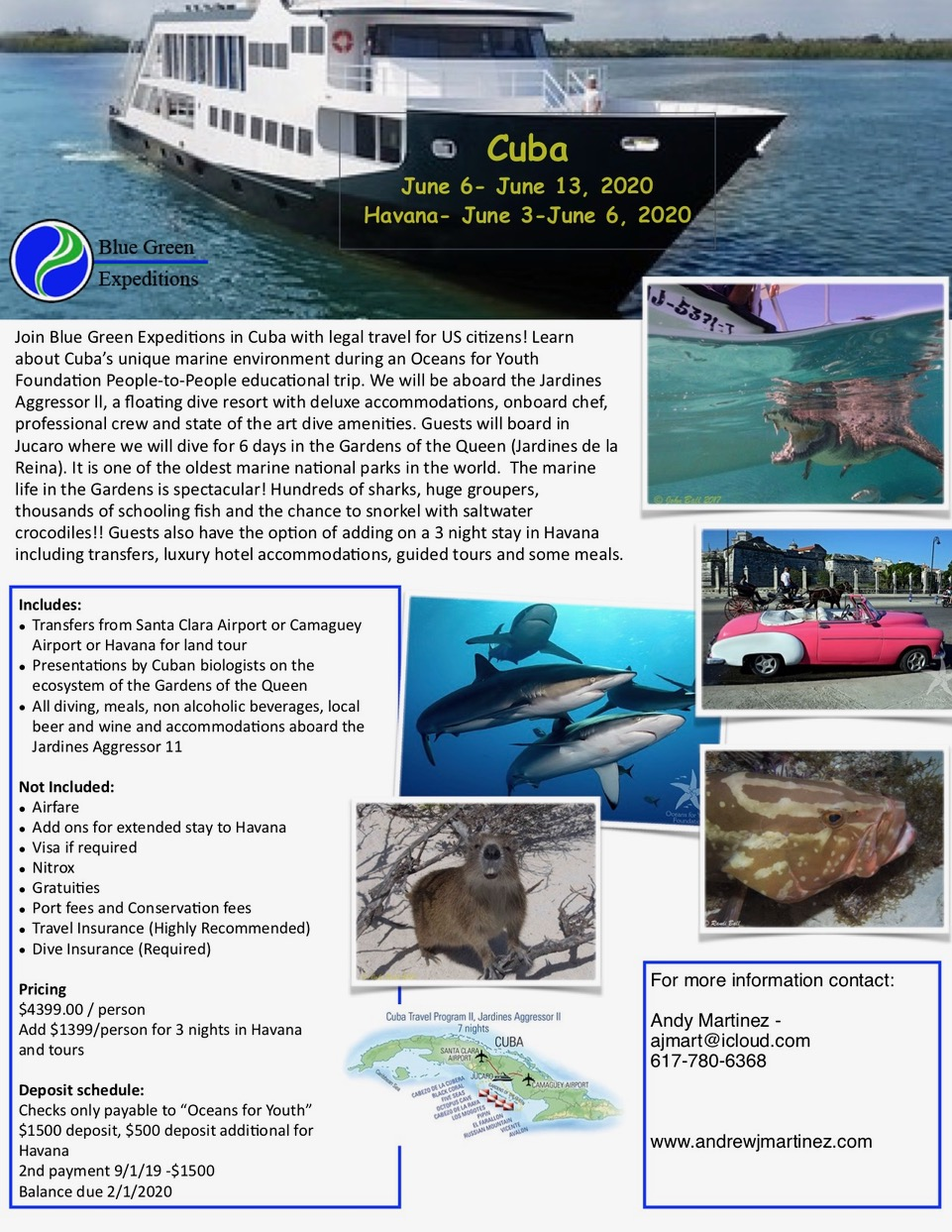 Cuba Expedition 2020 Informational image